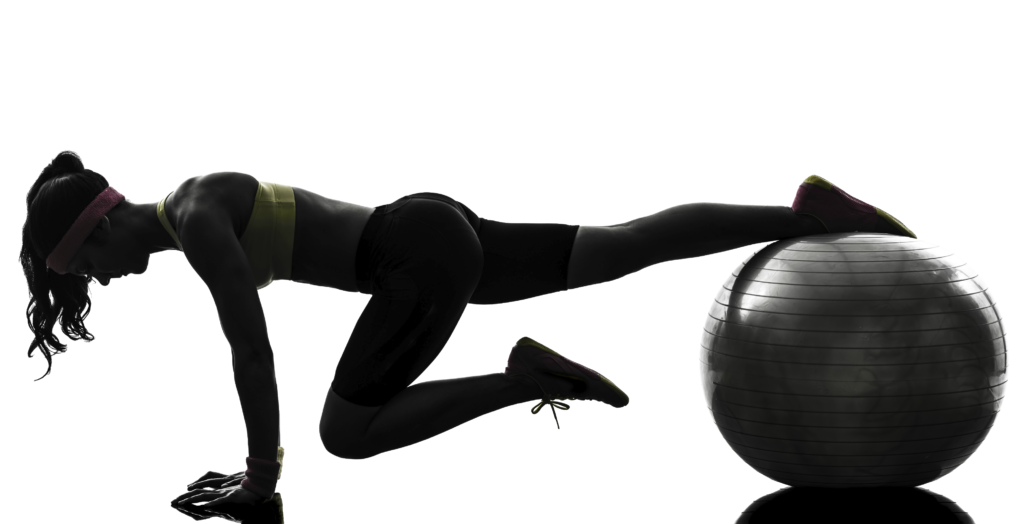woman-fitness-ball