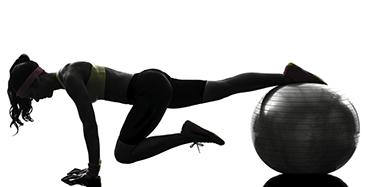 Fitnessball oefeningen banner | Fitness ball