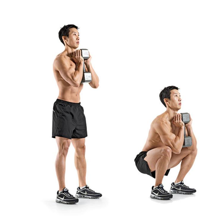 goblet squat | dumbbell oefening