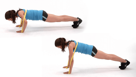 Fitness elastiek banded push ups