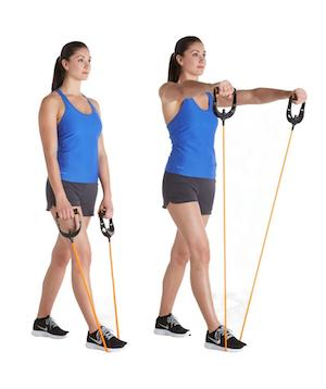 Fitness elastiek front raises
