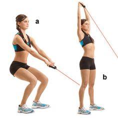 Fitness elastiek overhead pulls