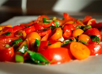 Gemarineerde tomatensalade - matchu sports