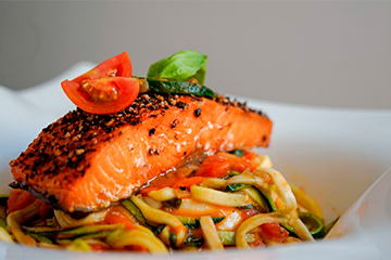 Courgette pasta zalm - matchu sports