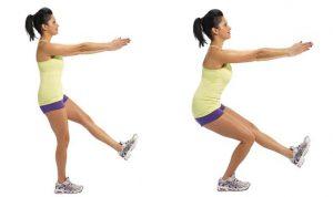 eenbenige squat - oefening voor enkelstabiliteit